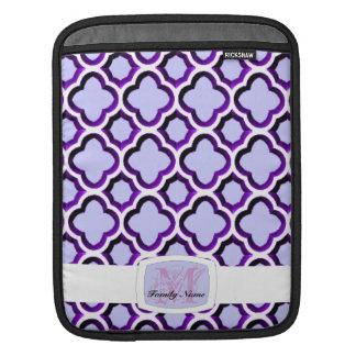 Embellished Moroccan Trellis (Purple) (Monogram) Sleeves For iPads