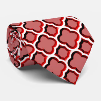 Embellished Moroccan Trellis (Red) Tie