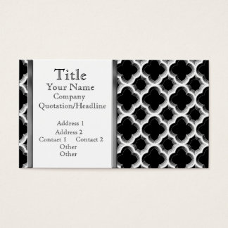Embellished Moroccan Trellis (Silver) Business Card