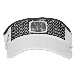 Embellished Moroccan Trellis (Silver) (Monogram) Visor