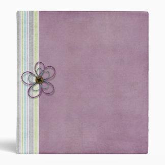 Embellished Purple w/stripes Any Use binder