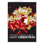 Embellished Santa Claus Blank Card