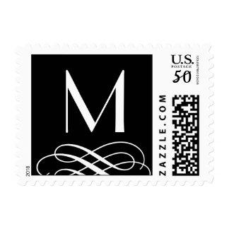 Embellishment Monogram Wedding Postage Stamp