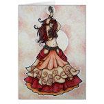 Ember belly dance art card