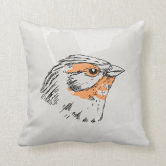 Emberiza Watercolor Bird vol.1 Throw Pillow