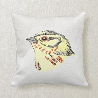 Emberiza Watercolor Bird vol.2 Throw Pillows