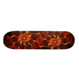 Embers Abstract Digital Fractal Art Skate Board Deck