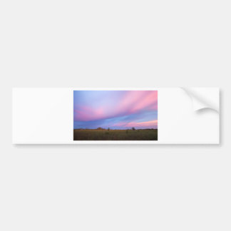 Embers in the Sky over Florida Everglades Bumper Sticker
