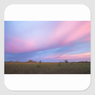 Embers in the Sky over Florida Everglades Square Sticker