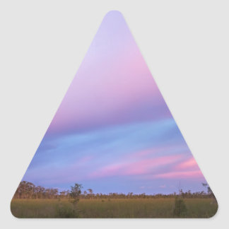 Embers in the Sky over Florida Everglades Triangle Sticker
