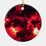 embers Double-Sided ceramic round christmas ornament
