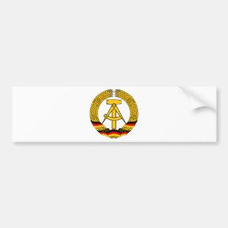 Emblem der DDR - National Emblem of the GDR Bumper Sticker