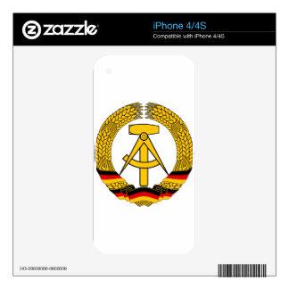 Emblem der DDR - National Emblem of the GDR Decals For The iPhone 4S