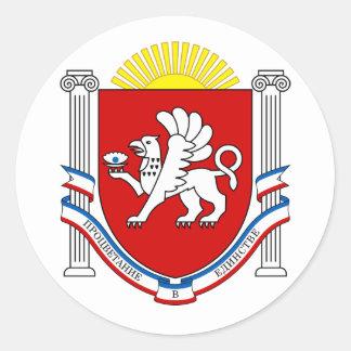 Emblem of Crimea Classic Round Sticker