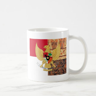 Emblem of Indonesia - Garuda Pancasila  Batik Flag Coffee Mug