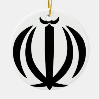 Emblem of Iran Ceramic Ornament