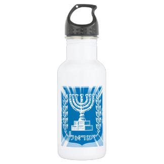 Emblem of Israel Spotlight Stainless Steel Water Bottle