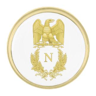 Emblem of Napoleon Bonaparte Gold Finish Lapel Pin