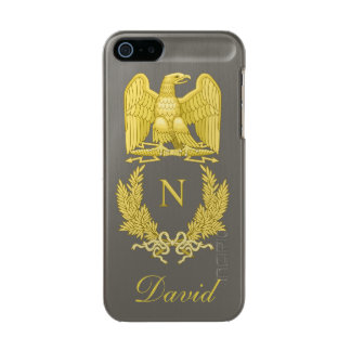 Emblem of Napoleon Bonaparte Metallic Phone Case For iPhone SE/5/5s