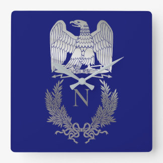 Emblem of Napoleon Bonaparte Square Wall Clock