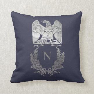 Emblem of Napoleon Bonaparte Throw Pillow