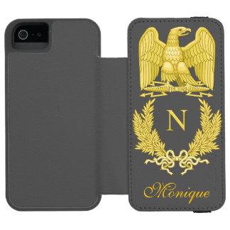 Emblem of Napoleon Bonaparte Wallet Case For iPhone SE/5/5s