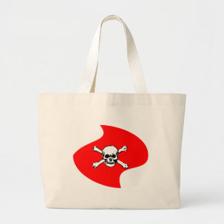 Emblem of skull large tote bag