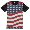 EMBLEM OF THE LAND I LOVE! (patriotic flag design) All-Over Print Shirt (<em>$39.95</em>)