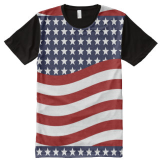 EMBLEM OF THE LAND I LOVE! (patriotic flag design) All-Over-Print Shirt