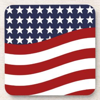 EMBLEM OF THE LAND I LOVE! (patriotic flag design) Beverage Coaster