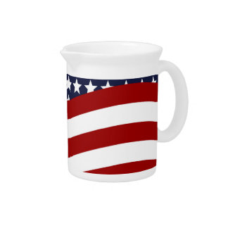 EMBLEM OF THE LAND I LOVE! (patriotic flag design) Beverage Pitcher