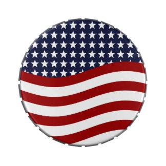 EMBLEM OF THE LAND I LOVE! (patriotic flag design) Candy Tin