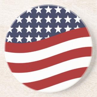 EMBLEM OF THE LAND I LOVE! (patriotic flag design) Drink Coaster
