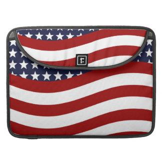 EMBLEM OF THE LAND I LOVE! (patriotic flag design) MacBook Pro Sleeve