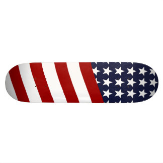 EMBLEM OF THE LAND I LOVE! (patriotic flag design) Skateboard Decks