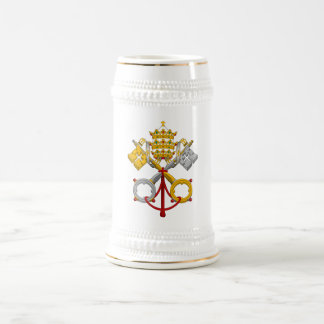 Emblem of the Papacy Official Pope Symbol Coat Beer Stein