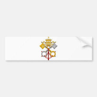 Emblem of the Papacy Official Pope Symbol Coat Bumper Stickers