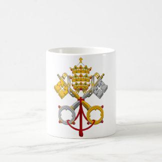 Emblem of the Papacy Official Pope Symbol Coat Coffee Mug