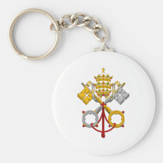Emblem of the Papacy Official Pope Symbol Coat Keychain