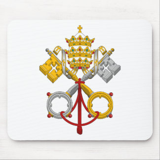 Emblem of the Papacy Official Pope Symbol Coat Mouse Pad