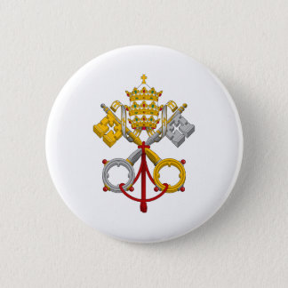 Emblem of the Papacy Official Pope Symbol Coat Pinback Button