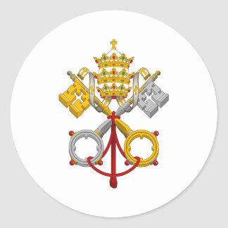 Emblem of the Papacy Official Pope Symbol Coat Round Stickers