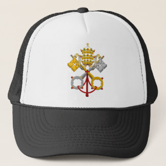Emblem of the Papacy Official Pope Symbol Coat Trucker Hat