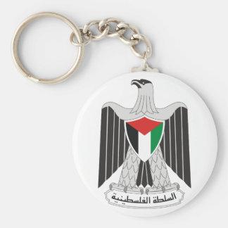 emblem palestine authority basic round button keychain