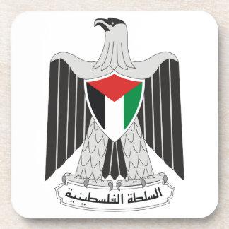 emblem palestine authority beverage coaster