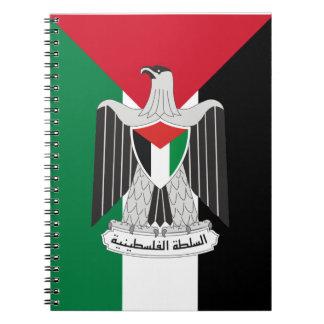 emblem palestine authority notebook