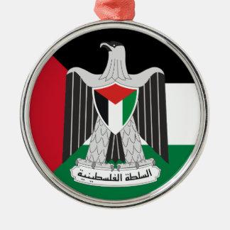 emblem palestine authority christmas tree ornament