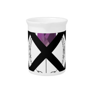 Emblem Purple Diamond Beverage Pitcher