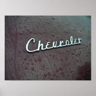 Emblema 1948 del tronco de Chevy Póster