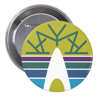 Emblema 3,0 del kajak pin redondo de 3 pulgadas